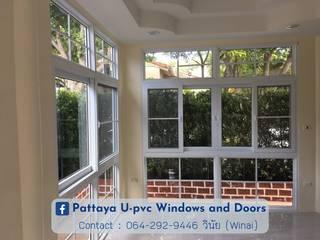โรงงาน พัทยา กระจก ยูพีวีซี Pattaya UPVC Windows & Doors Ventanas de PVC Plástico Blanco