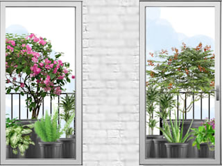 Project No.-135 window sill: tropical  by GreenCausa,Tropical