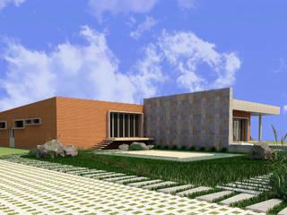 CelyGarciArquitectos Casas unifamiliares Ladrillos Multicolor