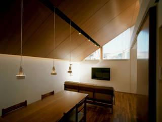 Salas de jantar modernas por 西島正樹/プライム一級建築士事務所 Moderno