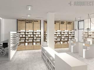 farmàcia Espacios comerciales de estilo moderno de mesquearquitectura Moderno