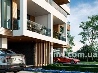 Стильный хай-тек дом с террасой на 2 семьи - TMV 104 от TMV Architecture company