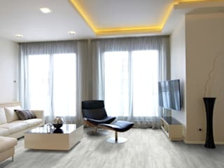 Floorwell Living room Engineered Wood White