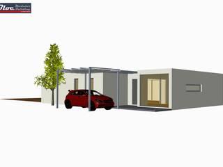 Modelo BLOC LÍNEA 81m2 área coberta | Casas modulares por BLOC - Casas Modulares Colonial