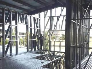 CONSTRUCCION BODEGA Bodegas de estilo industrial de MVR PROYECTOS & INGENIERIA Industrial