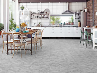 Floorwell Modern style kitchen Engineered Wood Grey