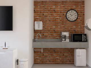 Sala Café Edifícios comerciais modernos por LUUI Engenharia & Design Moderno