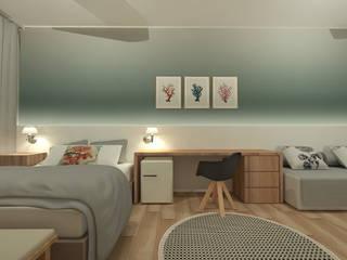 Casa da Praia Quartos modernos por LUUI Engenharia & Design Moderno