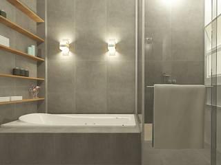 Casa da Praia Banheiros modernos por LUUI Engenharia & Design Moderno