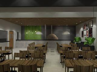 Restaurante Espetinhos Paulista Espaços gastronômicos modernos por LUUI Engenharia & Design Moderno