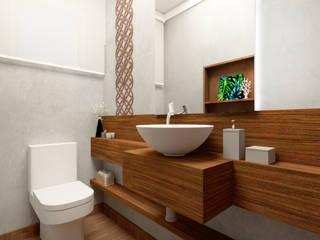 Sobrado Ipiranga Banheiros modernos por LUUI Engenharia & Design Moderno