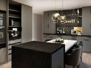 Cozinha Cozinhas modernas por LUUI Engenharia & Design Moderno