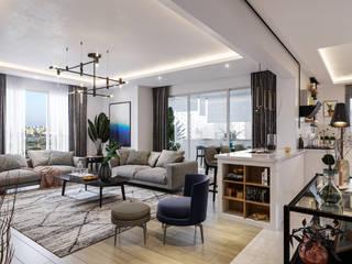 Çalık Konsept Mimarlık – Adana Reşatbey Mahallesi'nde daire yenileme: modern tarz , Modern