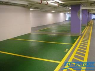 Pavimentación de parkings Centros comerciales de estilo industrial de Rai Pintores - Pintores Industriales Industrial