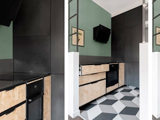 Di Origine Progettuale DOParchitetti KitchenCabinets & shelves Engineered Wood Multicolored