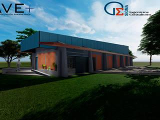 Bodegas de estilo industrial de Nave + Arquitectura & Modelación Paramétrica Industrial
