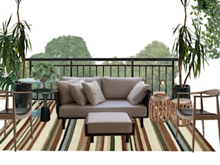 Consultoria Decoração - Salas de estar, tv e varanda moderna e aconchegante por Mirá Arquitetura Moderno