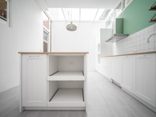 有隅空間規劃所 Kitchen units Tiles Green