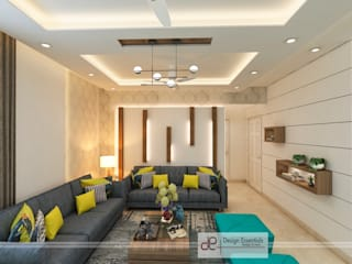 Unitech Escape Gurgaon Minimalist living room by Design Essentials Minimalist