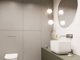 Mieszaknie w Pradze inPOINT Architektura Wnętrz Nowoczesna łazienka Płytki Zielony