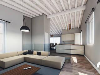 Spazio - Ristrutturazioni Living room Grey