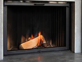 Betonkamine – Wärme im Beton Moderne Wohnzimmer von material raum form Modern