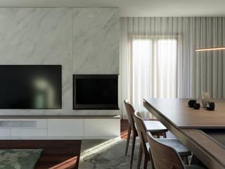 Reabilitação das Giestas Salas de estar clássicas por Designer's Mint Studio Clássico