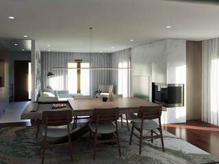 Reabilitação das Giestas Salas de jantar clássicas por Designer's Mint Studio Clássico
