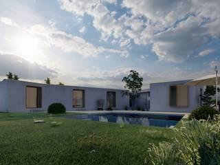 Courtyard House por Designer's Mint Studio