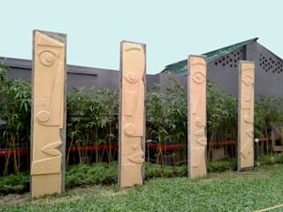 mrittika, the sculpture 別墅 石器 Brown