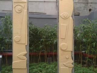 mrittika, the sculpture 別墅 石器 Yellow