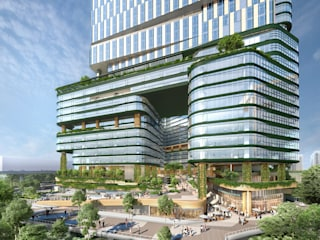NESCO Centre Building II - An Urban Campus Modern office buildings by Architecture by Aedas Modern