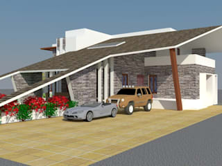Residence and Interior for MR.Vikas Patil @ Indapur by A B Design Studio Modern