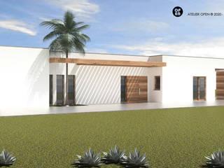 ATELIER OPEN ® - Arquitetura e Engenharia Holzhaus Holzspanplatte Weiß