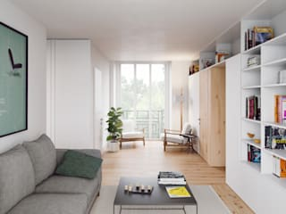FMO ARCHITECTURE Minimalist living room White