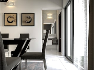 Monnaie Interiors Pvt Ltd Modern dining room Wood Wood effect