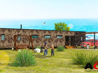 CASA MODULAR 140 M2 Casas de estilo mediterráneo de AOG Mediterráneo