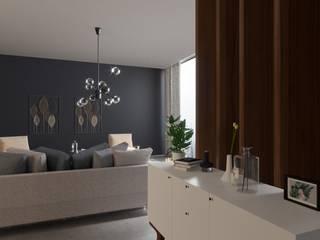 Espaço Nórdico Salas de estar minimalistas por FLGarciaDesign Minimalista