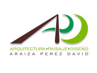 LOGO Araiza Pérez David APD Arquitectura Paisaje Diseño Jardines modernos Piedra Verde