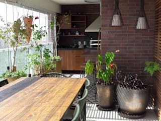 varandas contemporânea gourmet paula galbi paisagismo Varandas, alpendres e terraços modernos