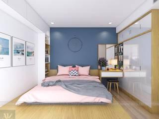 Mẫu thiết kế căn hộ chung cư La Casta 70m2 căn 2 phòng ngủ Công ty nội thất ATZ LUXURY BedroomAccessories & decoration
