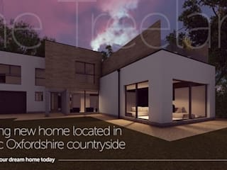 Contemporary 4 Bedroom Detached House, Burcot, Abingdon by Abodde Luxury Homes Сучасний