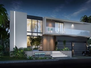 Modern Villa with Pool, Abingdon, Oxfordshire Rumah Modern Oleh Abodde Luxury Homes Modern