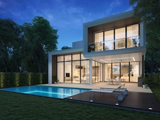Marbella Style Houses In The English Countryside 모던스타일 주택 by Abodde Luxury Homes 모던