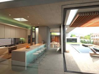 REMODELACION INTERIOR CASA HABITACION EN METEPEC, ESTADO DE MEXICO. Salones modernos de Arquitectura Progresiva Moderno