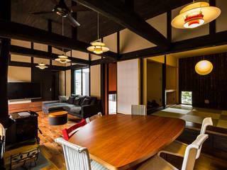 大工さんち 和風デザインの リビング の murase mitsuru atelier 和風