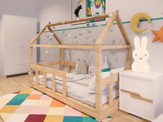 Aranżacja pokoju dziecięcego od Projektowanie Wnętrz Online Skandynawski