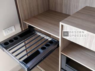 Lacquered sliding wardrobe DESIGN SPECIES BedroomWardrobes & closets MDF Beige