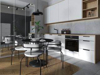 Projekt mieszkania styl nowoczesny od Projektowanie Wnętrz Online Nowoczesny