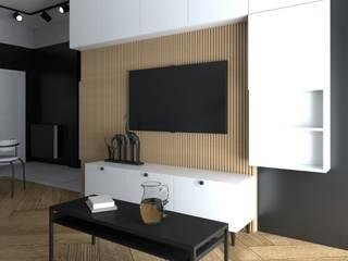 Projekt mieszkania styl nowoczesny Nowoczesny salon od Projektowanie Wnętrz Online Nowoczesny